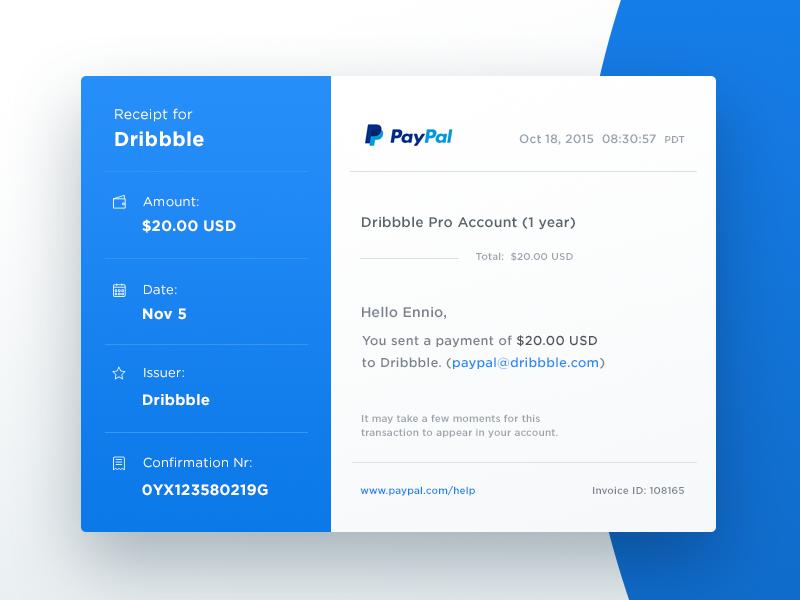 email receipt by ennio dybeli - Email Receipt