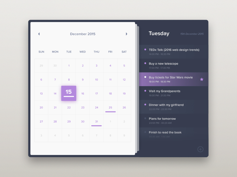 Calendar Design Daily : Collect ui daily inspiration collected from