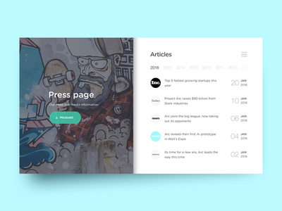 Collect UI - Daily inspiration collected from daily ui archive and on