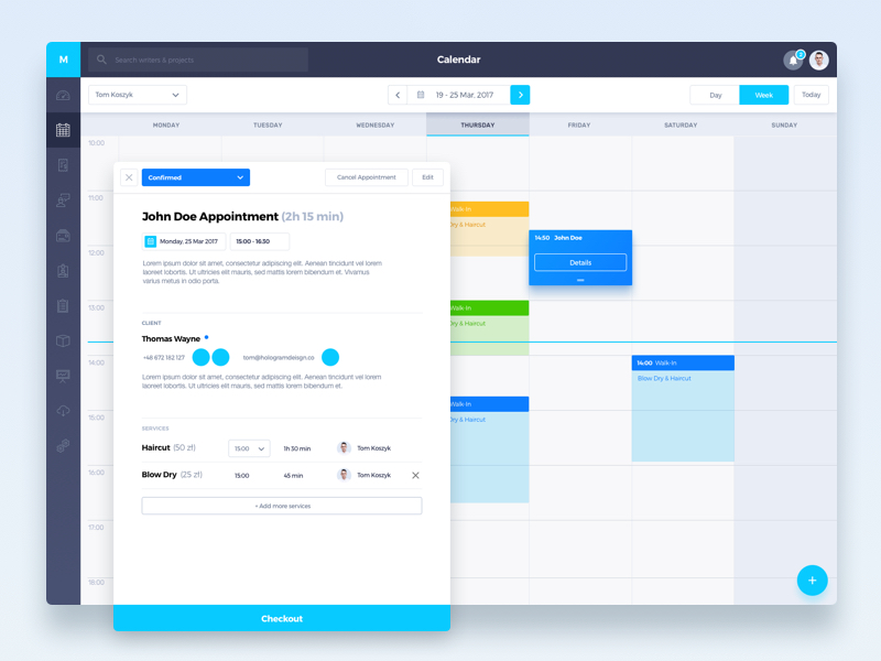 Calendar Booking Ui : Collect ui daily inspiration collected from