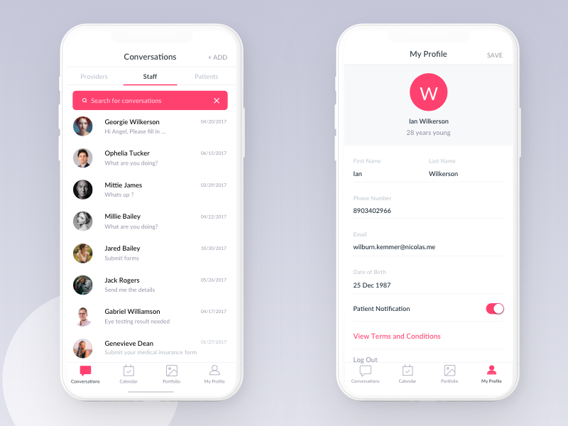 Contact List   Collect Ui Daily Inspiration Collected From Daily Ui Archive And